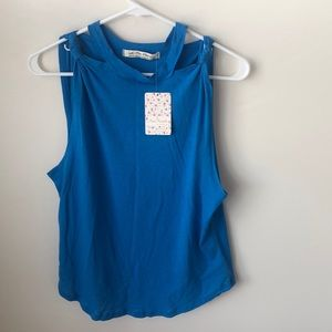 NWT Free People Blue Tank Sz Medium